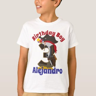 Pirate birthday boy custom design T-Shirt