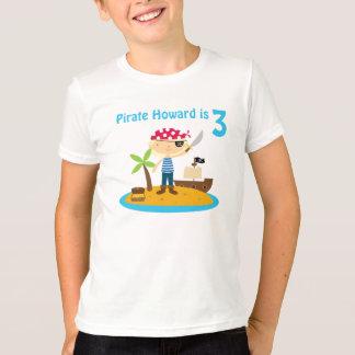 Pirate Birthday Boy Custom Name T-Shirt