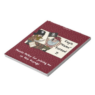 Pirate Birthday Candy Bar Wrapper Party Favor Memo Notepad