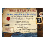 "Pirate Birthday Invitation 5"" X 7"" Invitation Card"