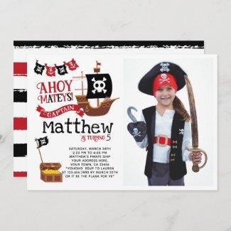 Pirate Birthday Invitation with Photo