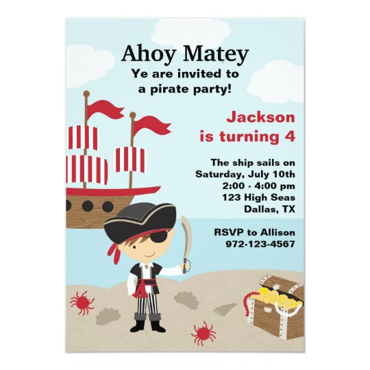 pirate birthday invitations zazzle com