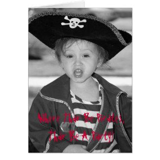 Pirate Birthday Invite - Customized Cards
