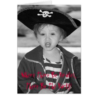 Pirate Birthday Invite Greeting Card