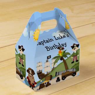 Pirate Birthday Party Loot Goodie Favor Box