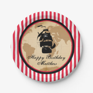 Pirate Birthday Party Plates