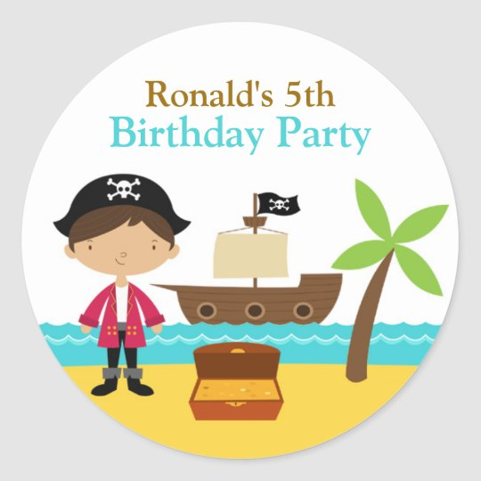 Pirate Birthday Party Stickers