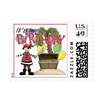 Pirate Birthday Stamps