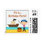 Pirate Birthday Small Postage
