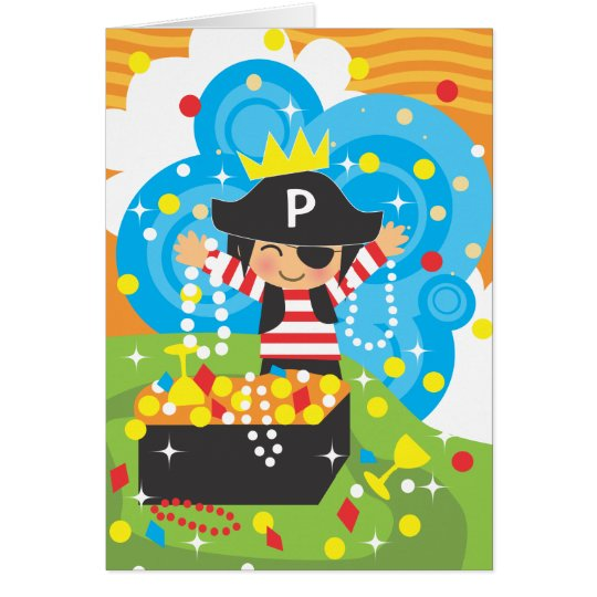 Pirate Birthday Thank You Notecard