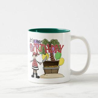 Pirate Birthday Two-Tone Coffee Mug