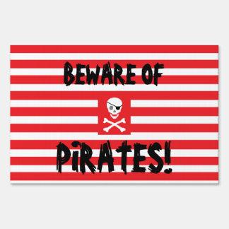 """""""Pirate"""" Birthday Yard Sign"""