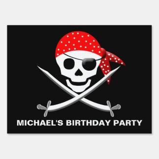 PIRATE BIRTHDAY YARD SIGN - PERSONALIZE