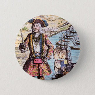 "Pirate ""Black Bart"" Button"