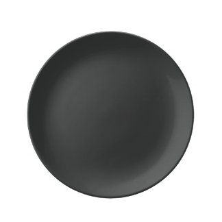 Pirate Black Porcelain Plate