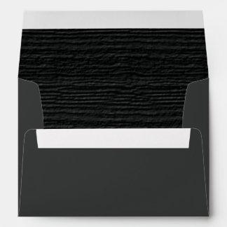 Pirate Black Wood Grain Texture Envelopes