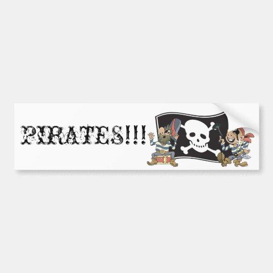 Pirate Blokes Bumper Sticker