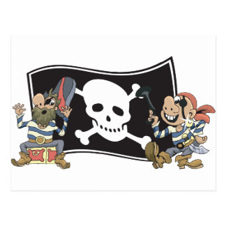 Pirate Blokes Postcard