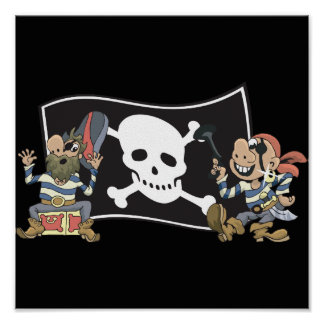 Pirate Blokes Poster