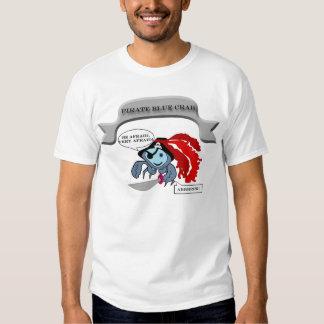 Pirate Blue Crab Tee Shirt