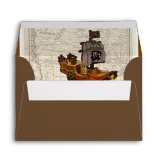 Pirate Boat and Map Envelope