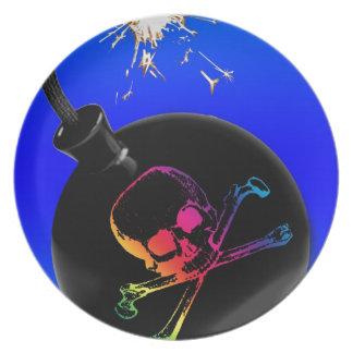 pirate bomb dinner plate