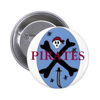 Pirate Bones Pinback Buttons