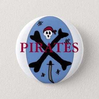 Pirate Bones Pinback Button