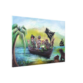 Pirate Booty Beach Canvas Print