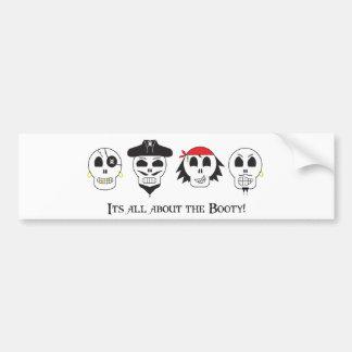 Pirate Booty Bumper Sticker