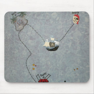 Pirate Booty Map Mouse Pad
