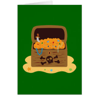 Pirate Booty Treasure Chest Greeting Card