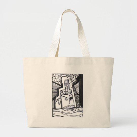 Pirate Bottle Large Tote Bag