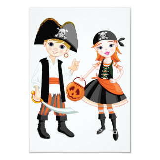 Pirate Boy And Girl Invitations