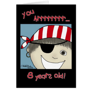 Pirate Boy eight year old Card