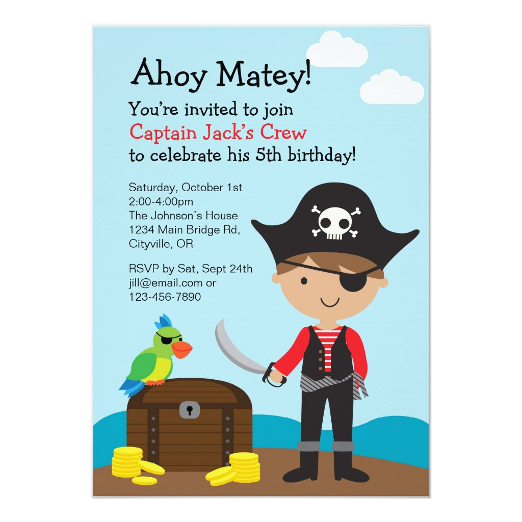 Pirate Boy Invitation