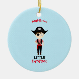 Pirate Boy Little Brother Ceramic Ornament