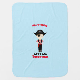 Pirate Boy Little Brother Swaddle Blanket
