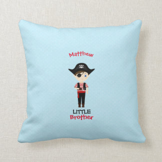 Pirate Boy Little Brother Throw Pillow