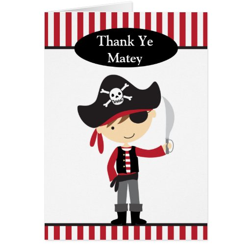 Pirate Boy Note Cards Greeting Cards