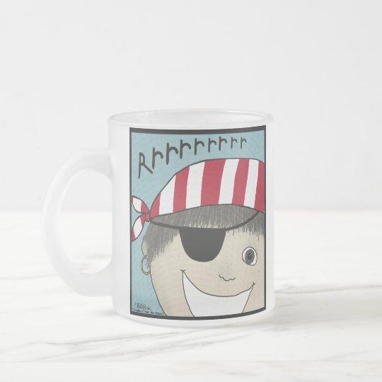 Pirate Boy Rrrrrr Frosted Glass Coffee Mug