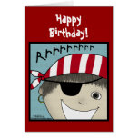 Pirate Boy Rrrrrr Greeting Card