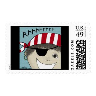 Pirate Boy Rrrrrr Postage Stamp