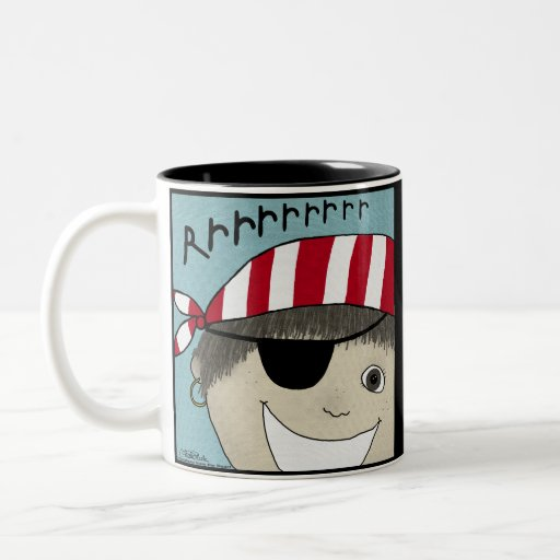 Pirate Boy Rrrrrr Two-Tone Coffee Mug
