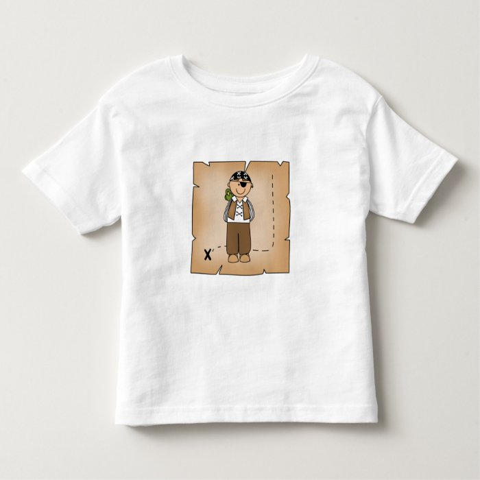 Pirate Boy with Map Toddler T-shirt