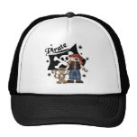 Pirate Boy with  Monkey Trucker Hat