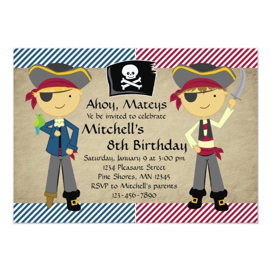 Pirate boys birthday invitations zazzle pirate boys birthday invitations filmwisefo