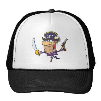 Pirate Brandshing Sword and Gun Mesh Hat