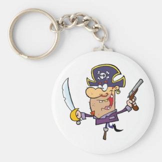 Pirate Brandshing Sword and Gun Keychain