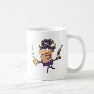 Pirate Brandshing Sword and Gun Coffee Mugs